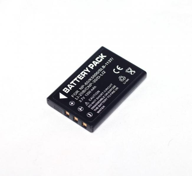 Аккумулятор для камер PENTAX - D-Li2 (NP-30, KLIC-5000, LI-20B, D-Li2, NP-60) - аналог на 1200 ма