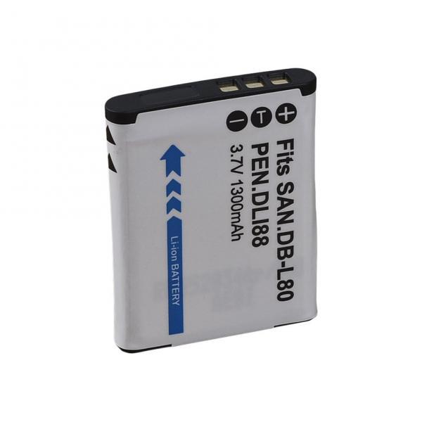 Аккумулятор для камер PENTAX - D-Li88 (DB-L80, PX1686, VW-VBX070) - аналог на 1300 ма