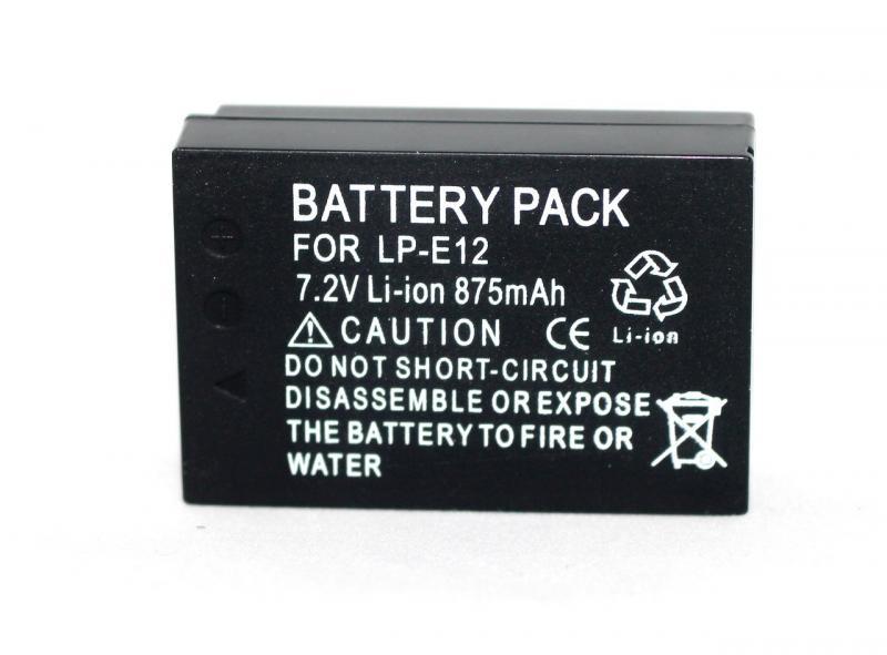 Аккумулятор для фотоаппаратов CANON EOS M, M2, M3, M10, M50,M100, 100D - LP-E12 (аналог) - 875 ma