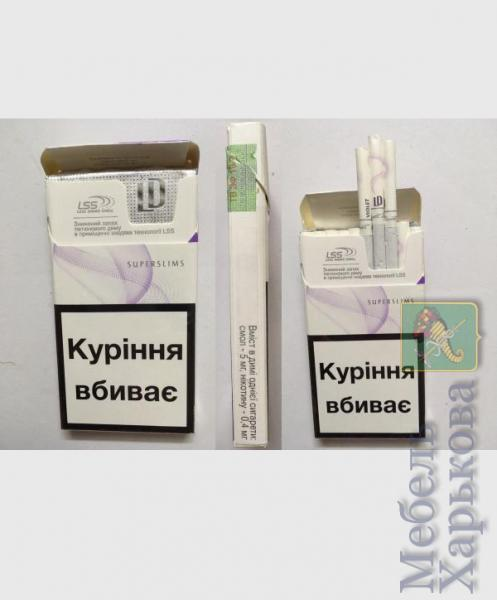 Сигареты оптом LD super slims Violet Украинский акциз