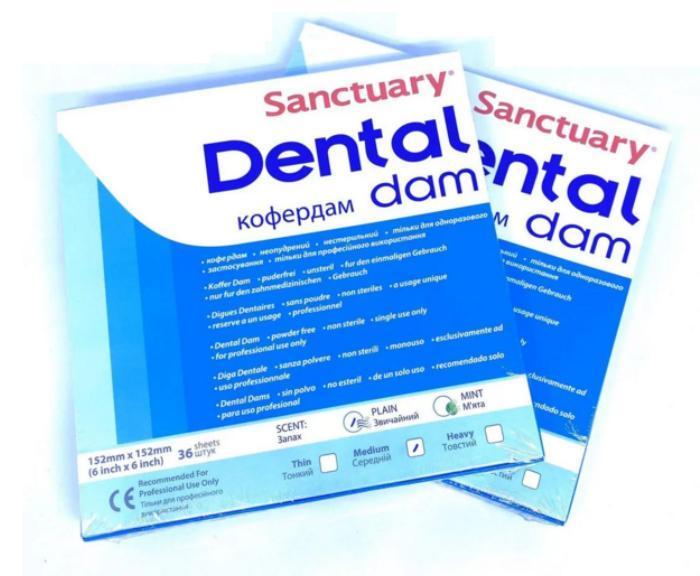 Платки коффердама  Dental Dam (36шт)