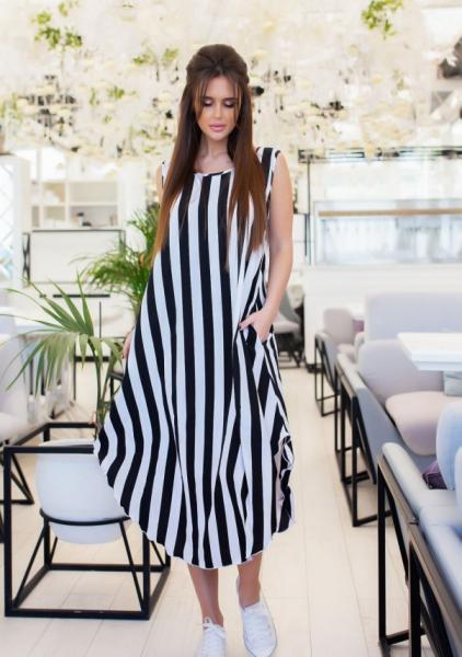 Фото  Платья ISSA PLUS 11682  XL черный/белый