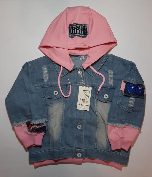Детская джинсовая куртка на девочку LMYT (110 - 150)