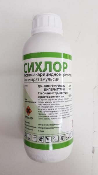 Фото Средства от насекомых 2. Сихлор 1л. - 1 шт.