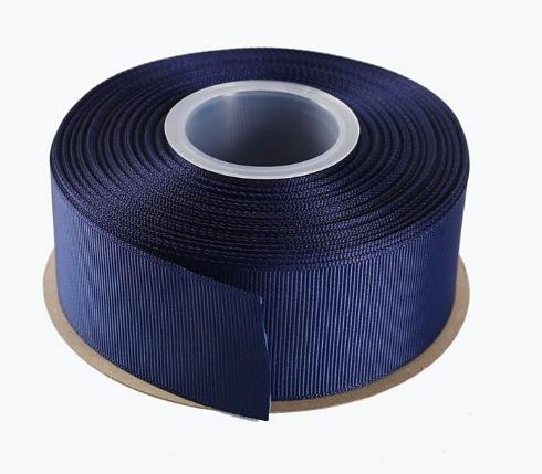 Лента  репсовая  4 см.   Тёмно - Синего   цвета.