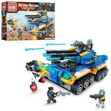 Фото Конструкторы, Конструкторы типа «Лего», Милитари (армия и флот) 2716 Конструктор Enlighten Brick Битвы будущего - Боевой самолет 381 дет.