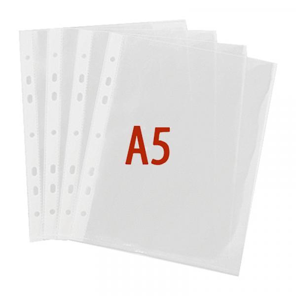 "Папка-карман (файл) ""Yesли:"", А5, 50 шт/уп прозрачные, 35 микрон"