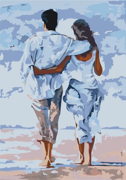 Фото Картины на холсте по номерам, Романтические картины. Люди KH 2643