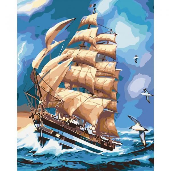 Фото Картины на холсте по номерам, Морской пейзаж KH 2712