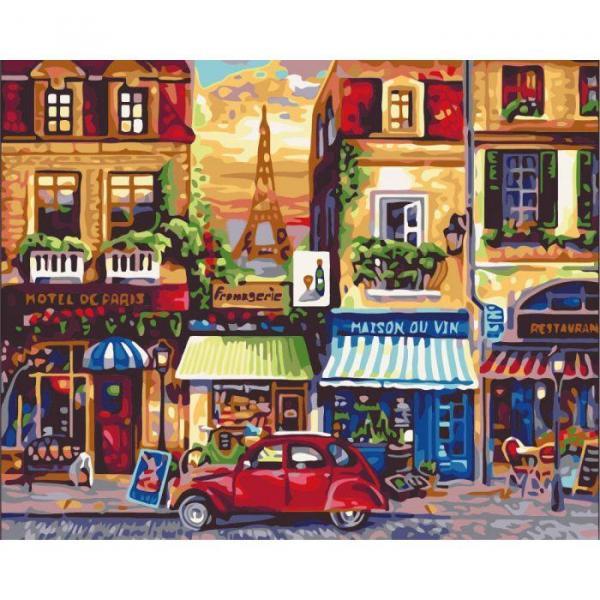 Фото Картины на холсте по номерам, Городской пейзаж KHO 2189