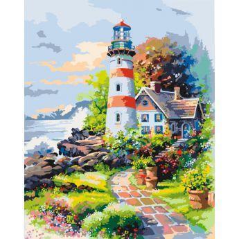 Фото Картины на холсте по номерам, Картины  в пакете (без коробки) 50х40см; 40х40см; 40х30см, Пейзаж, морской пейзаж. KHО 2719