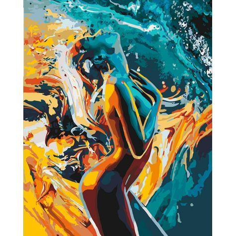 Фото Картины на холсте по номерам, Романтические картины. Люди KH 4528 Страсть женщины Картина по номерам на холсте 40х50см