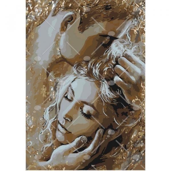 Фото Картины на холсте по номерам, Картины  в пакете (без коробки) 50х40см; 40х40см; 40х30см, Романтические картины. Люди. KHO 4563