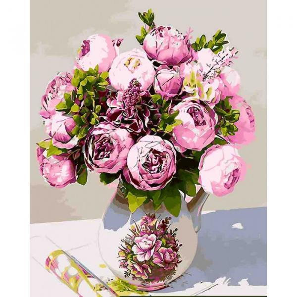 Фото Картины на холсте по номерам, Букеты, Цветы, Натюрморты KH 3027
