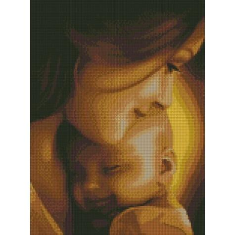 Фото  АМ 1008 Женское счастье Набор для творчества алмазная живопись 40х30 см холст натянут на ДВП в раме