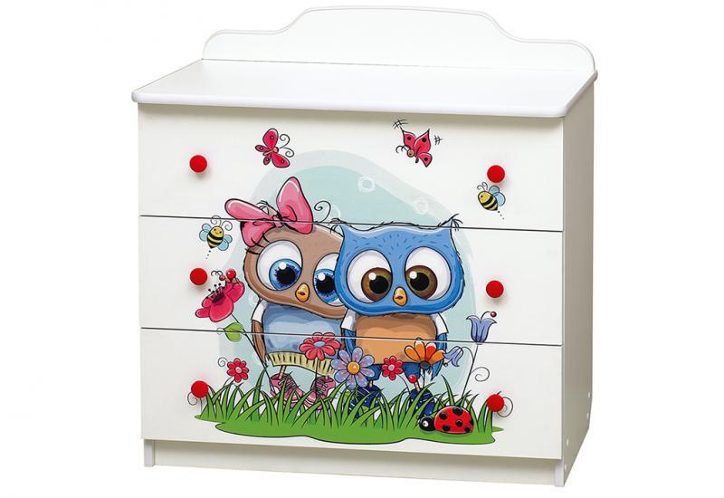 Фото Детская мебель, Шкафы, комоды, тумбы Комод Совята №3 (Матрица)