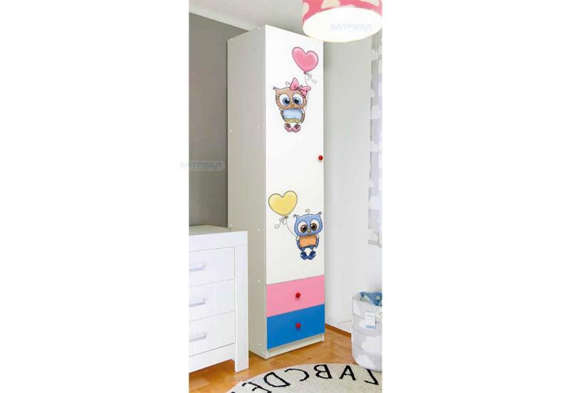 Фото Детская мебель Шкаф 1-дверный Совята 1.1 (Матрица)