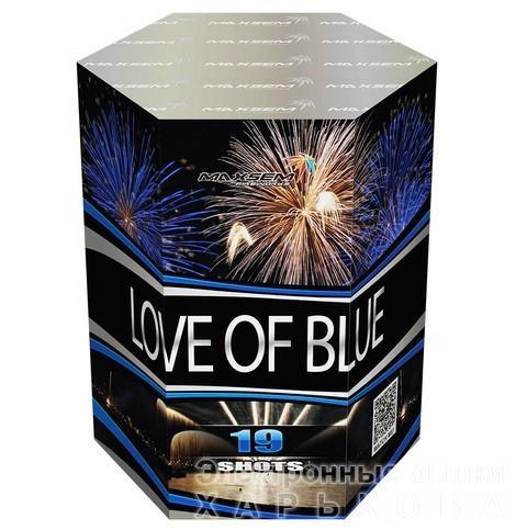 "Фейерверк Салютная установка 19 залпов ""LOVE OFF BLUE"" - Фейерверки и пиротехника на рынке Барабашова"
