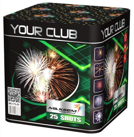 """Фейерверк Сал.уст.MC175-25 """"YOUR CLUB"""""""