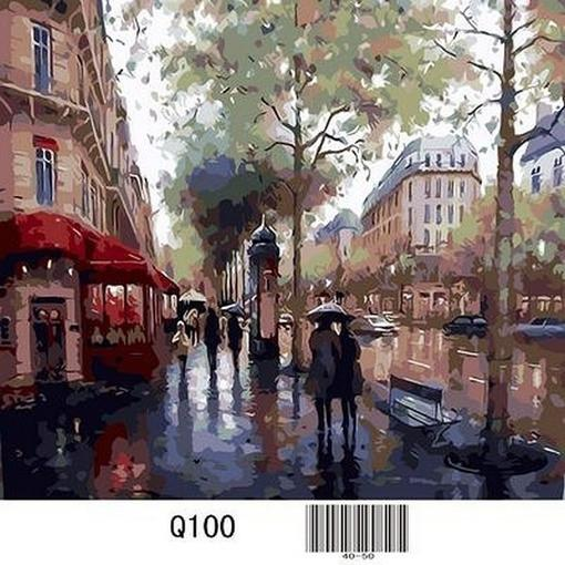 Фото Картины на холсте по номерам, Городской пейзаж Q100