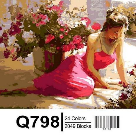 Фото Картины на холсте по номерам, Романтические картины. Люди Q798