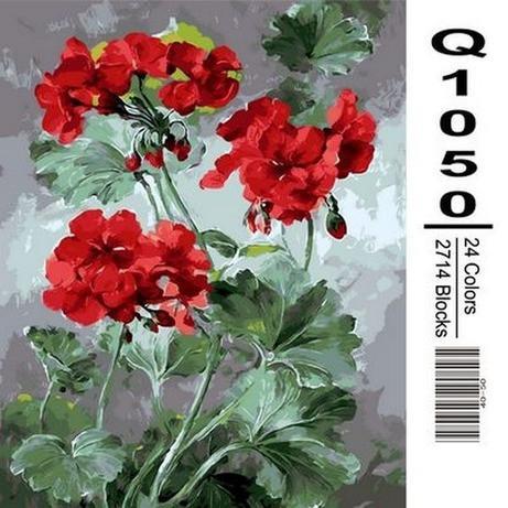 Фото Картины на холсте по номерам, Букеты, Цветы, Натюрморты Q1050