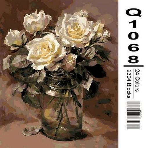 Фото Картины на холсте по номерам, Букеты, Цветы, Натюрморты Q1068