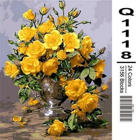 Фото Картины на холсте по номерам, Букеты, Цветы, Натюрморты Q1118