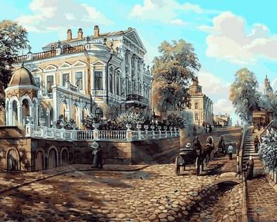 Фото Картины на холсте по номерам, Городской пейзаж Q2112