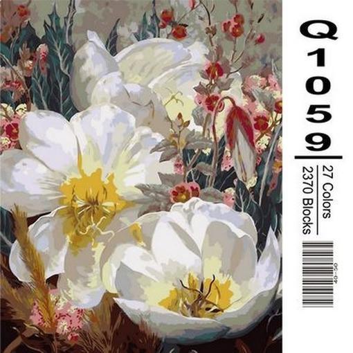 Фото Картины на холсте по номерам, Букеты, Цветы, Натюрморты Q1059