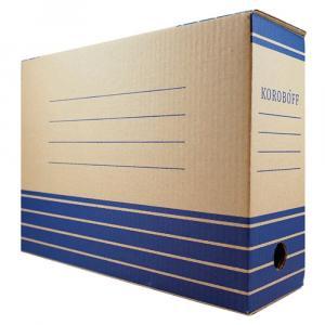 Фото Канцелярские товары (ЦЕНЫ БЕЗ НДС), Короба архивные, механизмы для архивирования Коробка архивная Koroboff (РАЗНЫЕ РАЗМЕРЫ и ЦЕНЫ, см. подробнее)