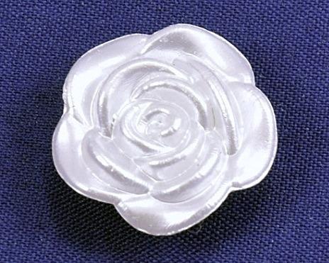 Фото Серединки ,кабашоны, Кабашоны, камеи Кабашон   пластиковый  19 мм.  Роза .  Бело - жемчужный.