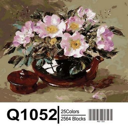 Фото Картины на холсте по номерам, Букеты, Цветы, Натюрморты Q1052