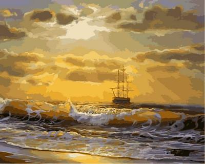 Фото Картины на холсте по номерам, Морской пейзаж Q2136