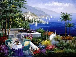 Фото Картины на холсте по номерам, Морской пейзаж Q2113 Венецианское кружево Роспись по номерам на холсте 40х50см