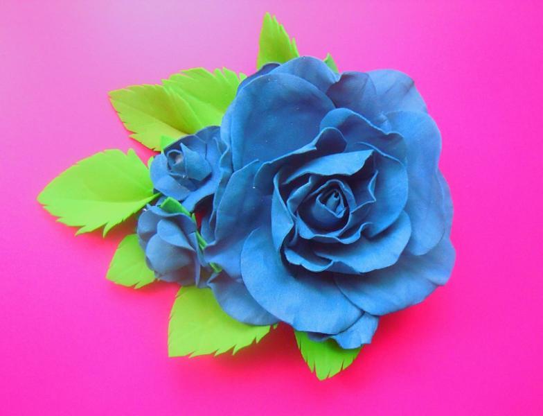 Фото Готовые изделия хенд мейд, Заколки хенд мейд Заколка с розой из фоамирана ,штука