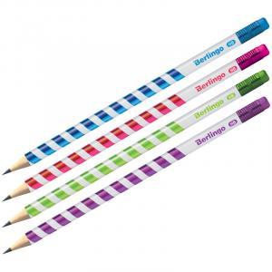 Фото Письменные принадлежности (ЦЕНЫ БЕЗ НДС), Карандаши простые, наборы цветных карандашей Карандаш ч/г Berlingo