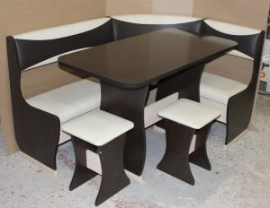 Кухонный уголок КУ-1 шоколад комби (Комфортная мебель)