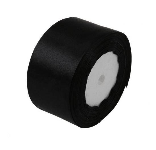 Фото Ленты, Лента атласная   однотонная ,5см Атласная  лента  5 см.  Чёрного  цвета.