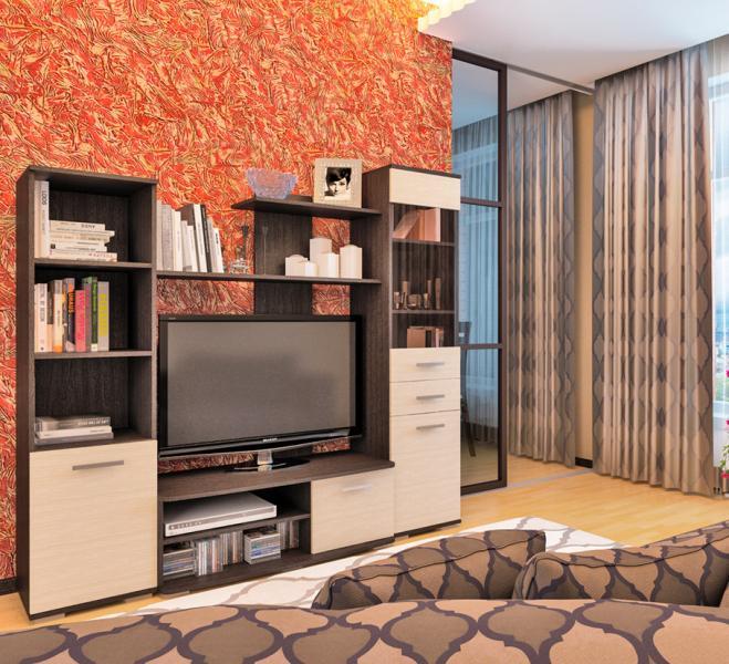 Фото Стенки и мебель для гостиной  Гостиная Фиеста (Пирамида)