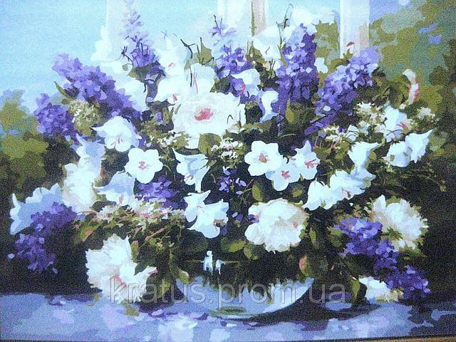 Фото Картины на холсте по номерам, Букеты, Цветы, Натюрморты VP 110
