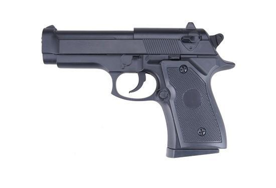 Фото Игрушечное Оружие, Стреляет пластиковыми 6мм  пульками, Металлическое и комбинированное (металл + пластик) оружие Детский игрушечный пистолет металлический ZM21