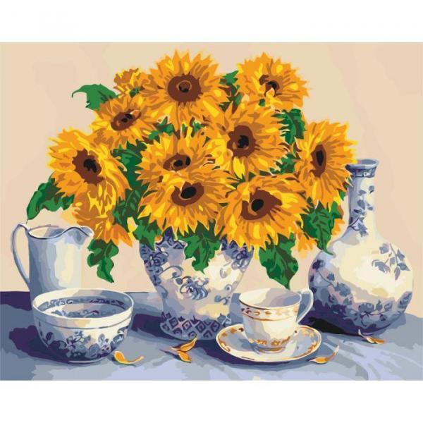 Фото Картины на холсте по номерам, Букеты, Цветы, Натюрморты KH 5519