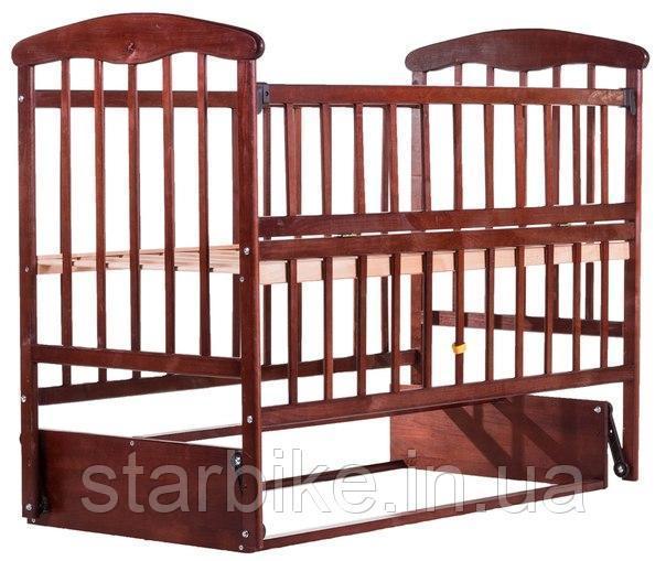 Кровать Наталка ОТМО маятник, откидной бок (в коробке)  ольха темная