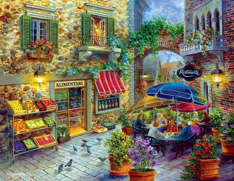 Фото Картины на холсте по номерам, Городской пейзаж GX 8519