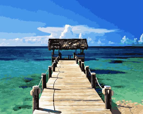 Фото Картины на холсте по номерам, Картины  в пакете (без коробки) 50х40см; 40х40см; 40х30см, Пейзаж, морской пейзаж. GX 21744