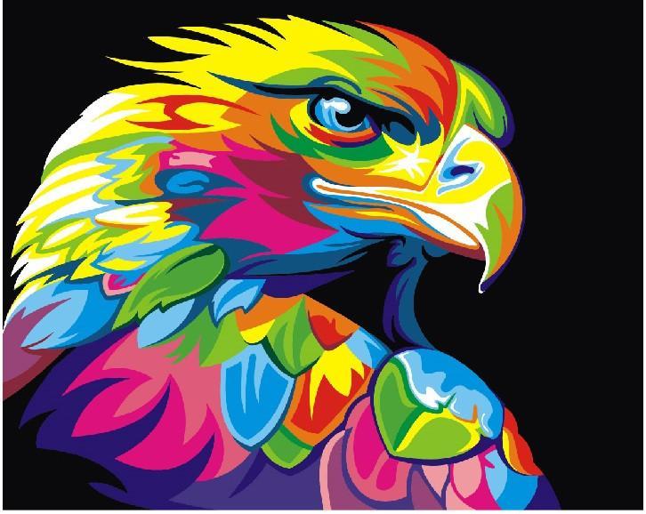 Фото Картины на холсте по номерам, Животные. Птицы. Рыбы... KGEX 5329