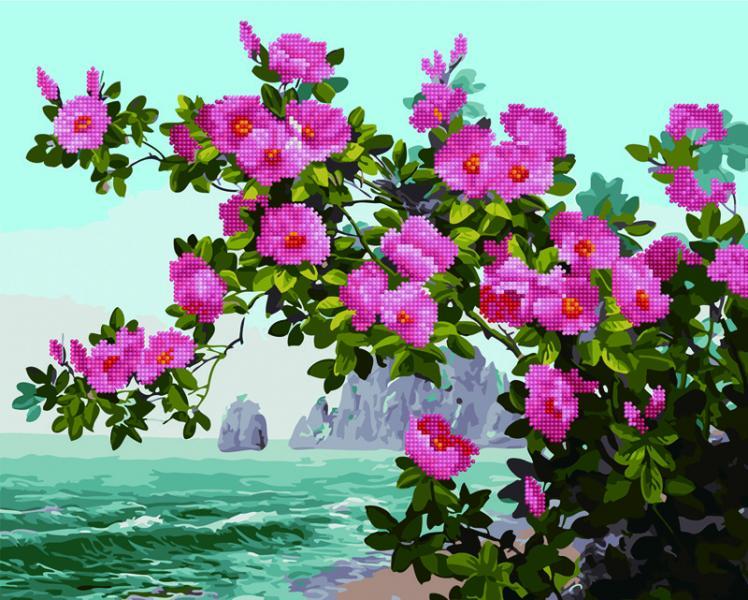 Фото  GZS 1070 Весна на побережье Алмазная картина-раскраска (смешанная техника)