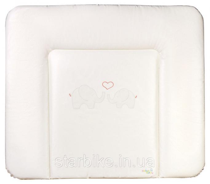 Пеленальный матрас Ceba Baby WD 85*70 multi  слоны с сердцем бежевый