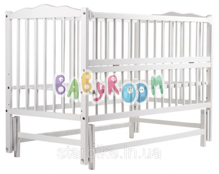 Кровать Babyroom Веселка маятник, откидной бок DVMO-2  бук белый